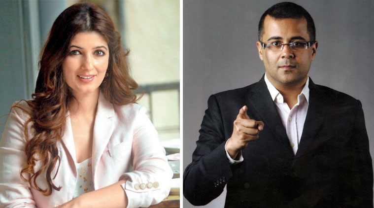 Twinkle Khanna Chetan Bhagat in an ugly Twitter spat