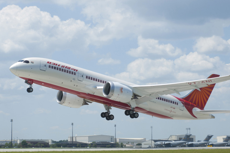 787 Charleston Air India Delivery K65729