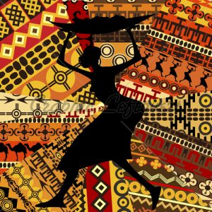 african-woman-on-ethnic-textures-background