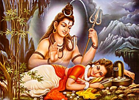 shiva-and-parvati-contemporary-indian-poster
