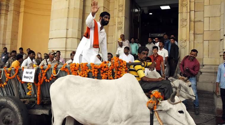 BJP MLA, Jhansi, Jawahar L Rajpoot, Bullock Cart, UP, Assembly