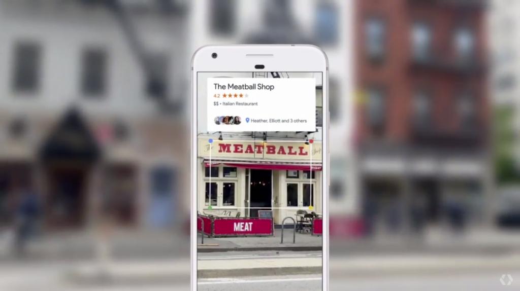Google Lens and restaurant reviews