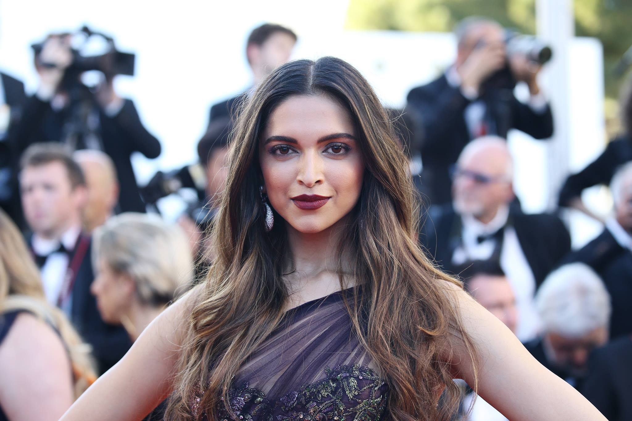 Deepika Padukone, sheer violet Marchesa gown, ahead-turning debut, Cannes Film Festival, red carpet,