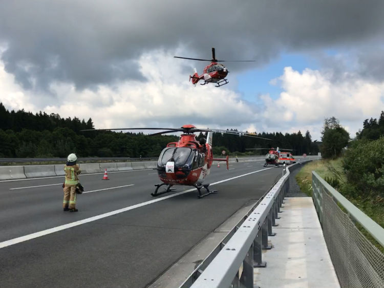 Rescue helicopters assist emergency workers at accident site. Image courtesy: Reuters