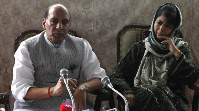 Jammu and Kashmir, Chief Minister, Mehbooba Mufti, Rajnath Singh, Home Minister