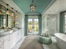 interiors, bathrooms, restrooms, architecture, walls, paint, decoration