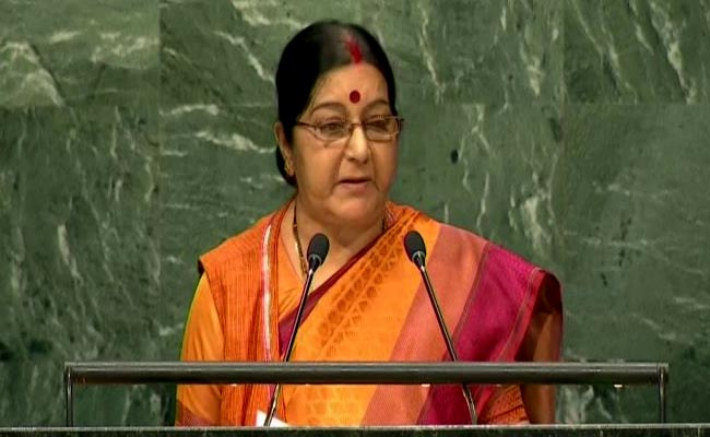 Sushma Swaraj, UNGA, Pakistan, Jammu and Kashmir, Nawaz Sharif