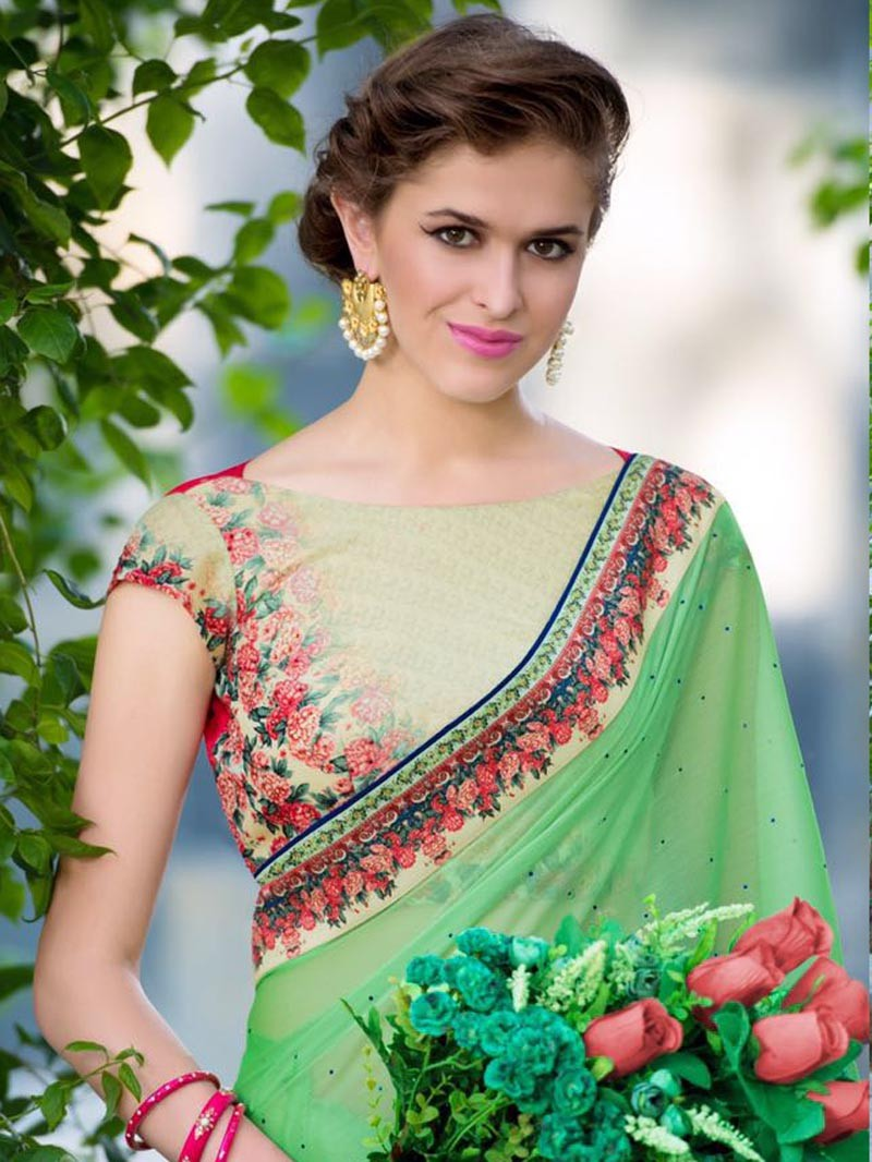 green-color-pure-silk-chiffon-designer-new-design-sarees-for-diwali