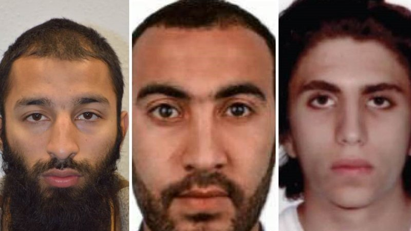 The three identified London Bridge attack attackers