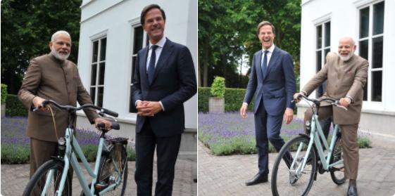 Prime Minister, Narendra Modi, Netherland, Mark Rutte, Cycle